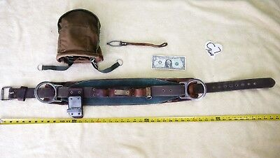 Bell lineman's belt, body harness, and pouch in good condition