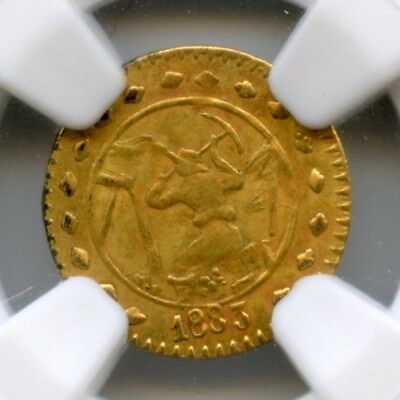 "RARE 1883 Gold Miner ""H"" Charm / California Fractional Gold / NGC MS62 HR6"