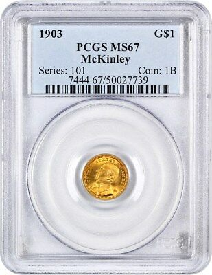 1903 McKinley G$1 PCGS MS67 - Classic Commemorative - Gold Coin