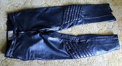 Walden Miller Size 7 Motorbike Leather Pants Very Nice Condition