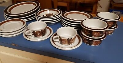 Vintage Arabia Finland ROSEMARIN Dinner Set 24 Pc Scandinavian Scandi Retro