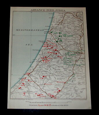 EGYPTIAN EXPEDITIONARY FORCE ADVANCE INTO JUDAEA PALESTINE 14/11/1917 Plate 15