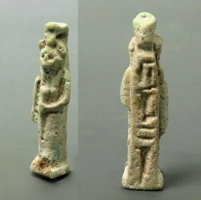 Egyptian Faience Amulet Of Sekhmet With Hieroglyphs (L842)