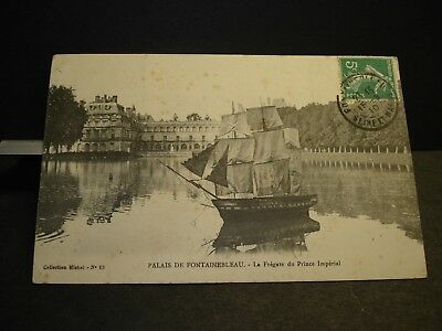 French Frigate PRINCE IMPERIAL Naval Cover 1910 Postcard FRANCE