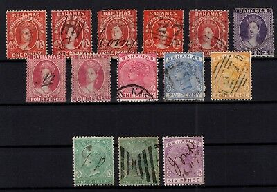 P75434/ Bahamas – 1863 / 1890 Collection Classiques Obl / Used 665 €