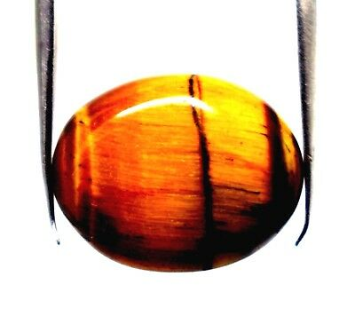 Ggl Certified 7.30 Ct Natural Iron Tiger Eye Cabochon Oval Cut Losse Gemstone