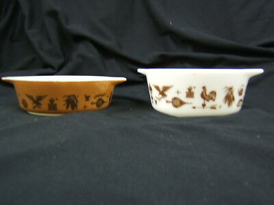 Lot of 2 Pyrex Early American Casseroles #471 & 472 VGC