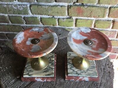 French Art Deco Marble Garnitures