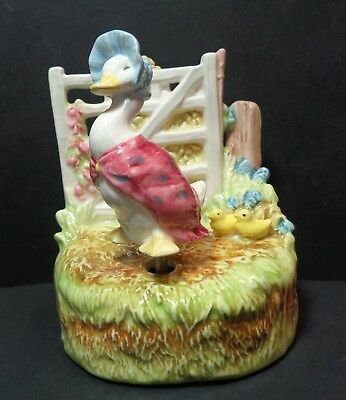 Schmid Beatrix Potter Jemima Puddleduck Music Box Figure Waltz of the Flowers