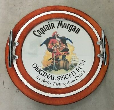 Captain Morgan Round Bar Mirror Nautical Rum