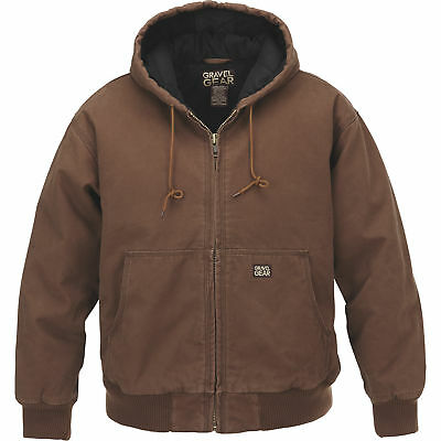 Gravel Gear Hooded Tundra Jacket - Bark Brown, 2XL