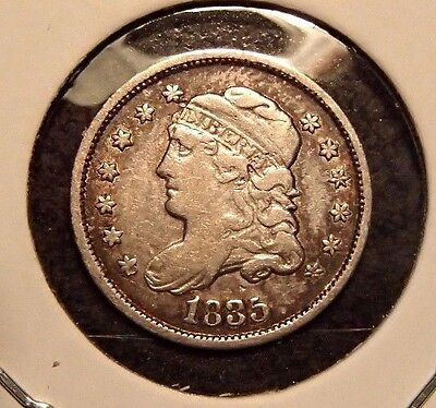 1835 Capped Bust Silver Half Dime Nice High Grade Circulated Coin