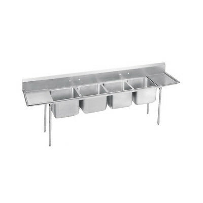 "Advance Tabco 900 Series Seamless 126"" x 27"" Bowl 4 Compartment Scullery Sink"