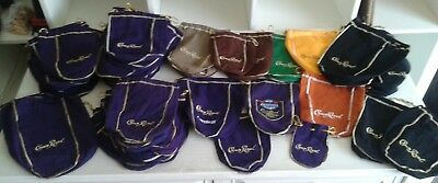 Huge Lot 58 Crown Royal Bags Purple Black Green Orange Brown Yellow Drawstring