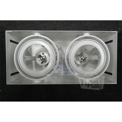 Eurofase TE212TR-02 Two Bulb Trimless Recessed Light Fixture White 4in By 8.5in