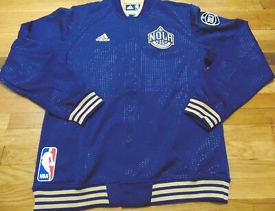 buy popular 03433 572a2 Adidas Nba Authentic New Orleans Pelicans On Court Blue Jacket Size 2Xl+2