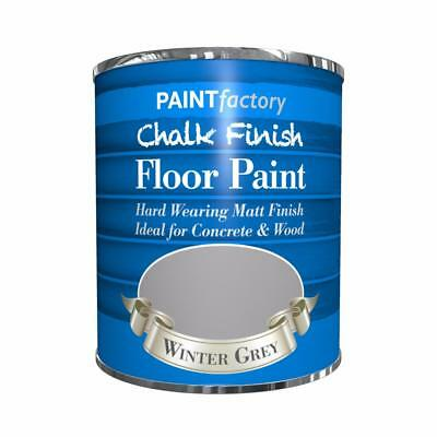 Paint Factory Chalk Chalky Floor Paint 650ml Winter Grey Matt