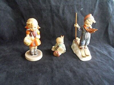 Hummel / Goebel figures 3 - angel, school girl, skier