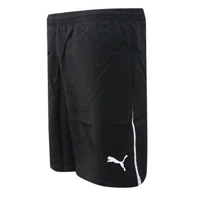 Puma PowerCat 1.10 Black White Mens Woven Fitness Running Shorts 652930 03 CC93