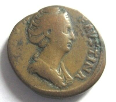 Sesterz of Faustina I. (Senior)    Rv. Ceres standing left