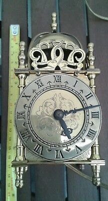 Smiths Brass Electric Lantern Mantle Clock In Working Condition As Photos