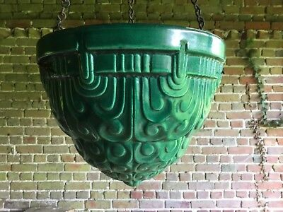French  Art Deco Pottery  Hanging Planter