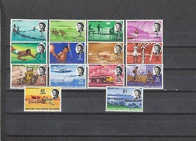 a140 - SOLOMON ISL - SG166-179 MNH 1968 SHORT DEFINITIVE SET TO $1 14v