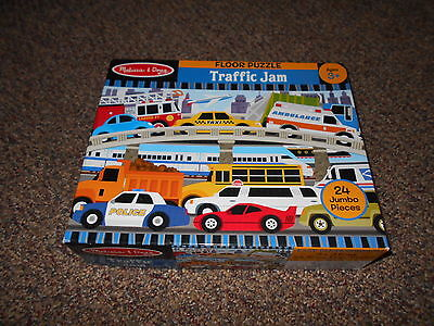 Pre-owned Floor Puzzle Melissa & Doug Traffic Jam 24 pieces Complete 2' x 3'