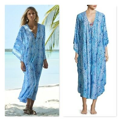 44627c9ef Melissa Odabash Kayla long cover up kaftan dress One Size snakeskin swim  $298
