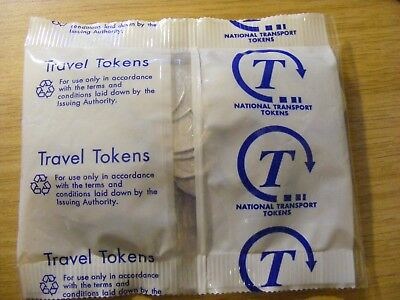 Collection of 65 National Transport 20 Pence Tokens - in sealed bag £13.00 total