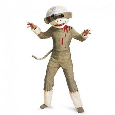 Child Zombie Sock Monkey Boys Costume | Disguise 19425