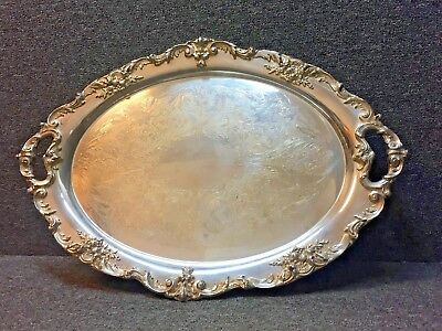 "Reed & Barton 1655 King Francis Large Silverplate 30"" Waiter Tray Hollowware"