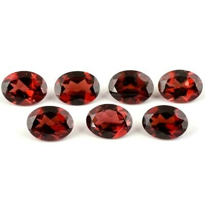 Wholesale Lot 6x4mm to 9x7mm Oval Facet Mozambique Garnet Loose Calibrated Gems
