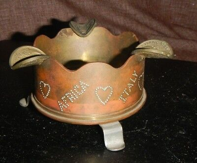 Vintage Wwii Trench Art Ashtray 75 Mm M5A1 Shell Date 1941 Ww2 Usa Army Military