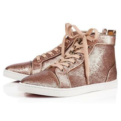 40e1391d1580 Christian Louboutin BIP BIP Woman Orlato Sequin Hi High Top Sneakers Shoes   945