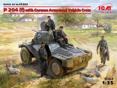Icm 35382 - 1/35 WWII German P 204(F) With Armoured Vehicle Crew - Neu