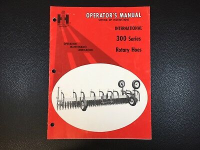 Original International 300 Series rotary Hoes Owners Operators Manual