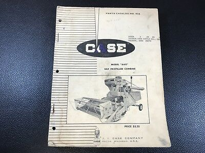 Original CASE Model 660 Self Propelled Combine Dealer Parts Catalog - 408 Pages