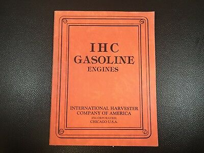 Original INTERNATIONAL IHC Gas Engines Sales Brochure - Reprint