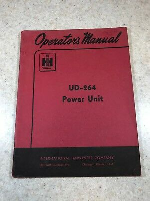 Original International Harvester UD-264 Power Unit Operators Manual