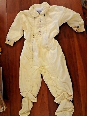Vintage 50's 60's yellow girl's baby snowsuit as is Switcheez
