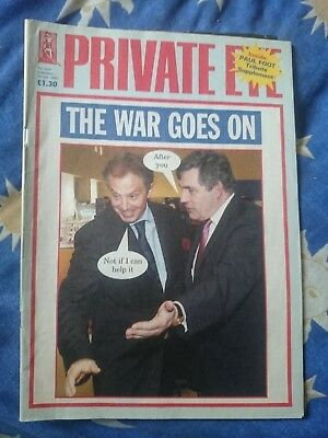 PRIVATE EYE 1116 1st to 14th Oct 2004 BLAIR BROWN THE WAR GOES ON