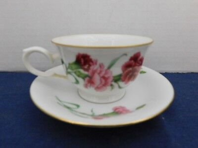 Avon Blossoms of the Month Cup & Saucer Set JANUARY - CARNATION
