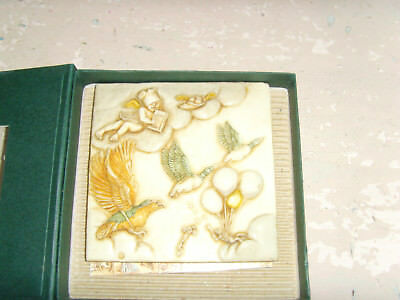 Picturesque Noah's Park Sky Master birds unique tile magnet tile figures cherub