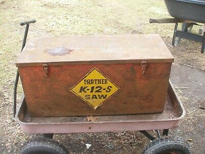 OEM LARGE METAL STORAGE BOX for PARTNER K12S Concrete Saw cut off K1200  NO SAW