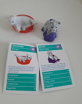 Vintage Puppy Kitty In My Pocket UK Animal Hospital Set with Cards