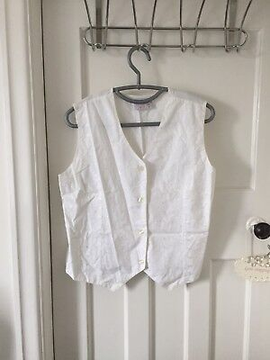 Vintage Broderie Anglais Waistcoat - Size M