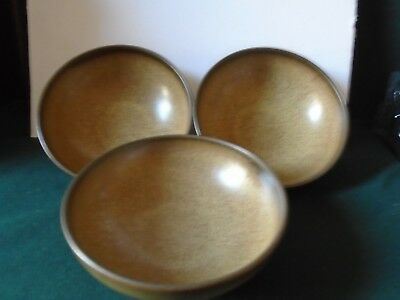 Three Denby Romany cereal / soup bowls