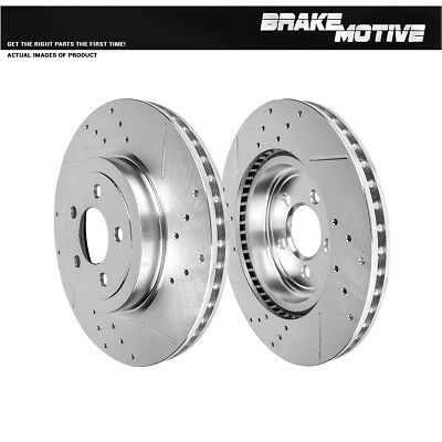 For 300 300C Challenger Charger Magnum AWD Front Drill And Slot Brake Rotors