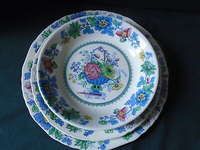 Mason's Strathmore  Dinner plate, Salad plate, & soup / cereal bowl.